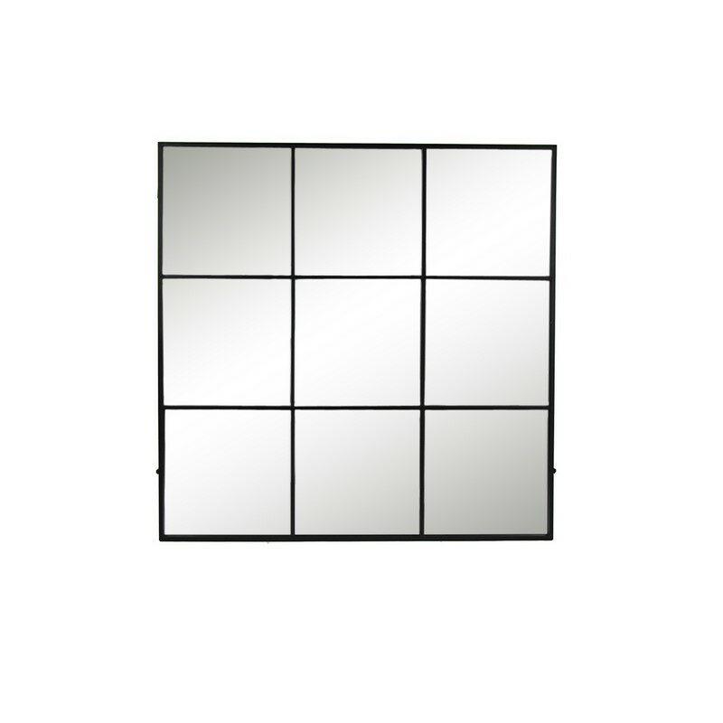 Miroir mural carré Palace noir