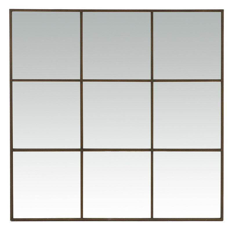 Miroir mural carré Palace rouille