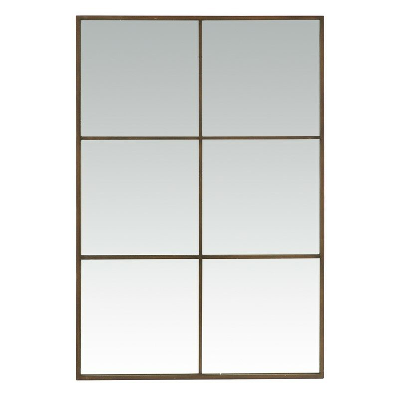 Miroir rectangulaire mural Palace rouille