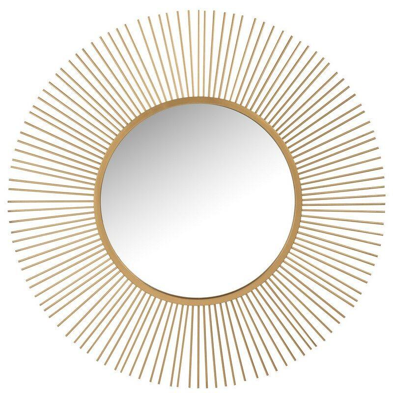 Miroir rond doré 110 cm