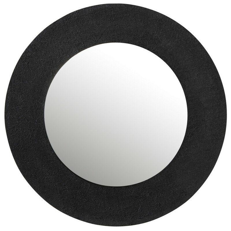 Miroir rond noir 89 cm