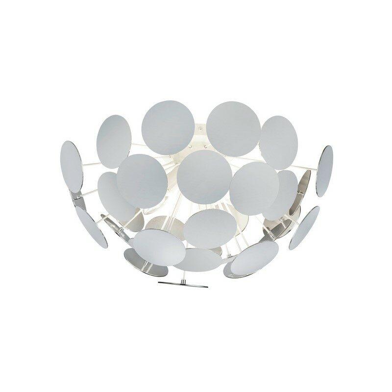 Plafonnier blanc 3 lumières Discalgo