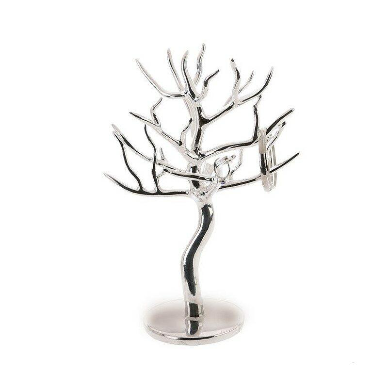 Porte bijoux arbre argenté