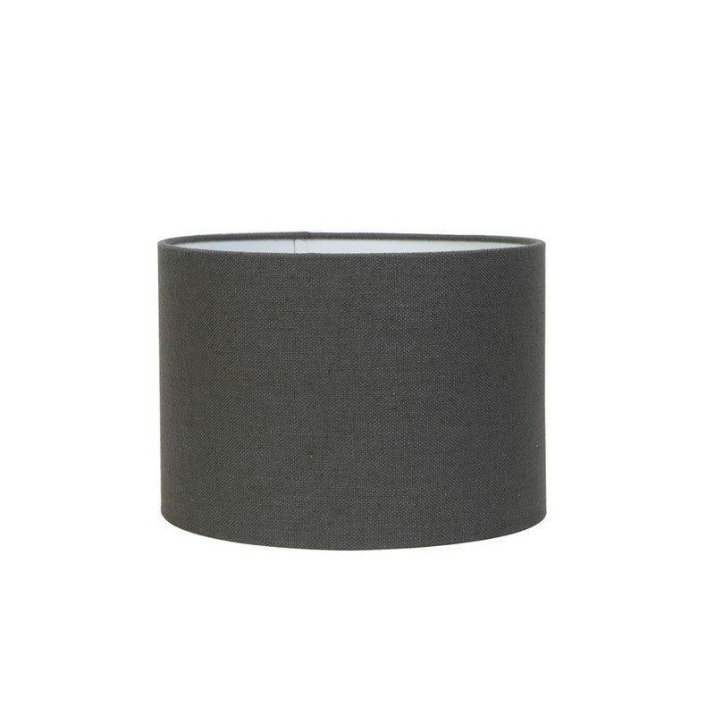Abat-jour cylindre Livigno gris foncé