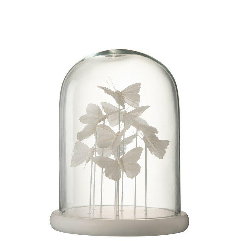 Cloche Papillon blanc