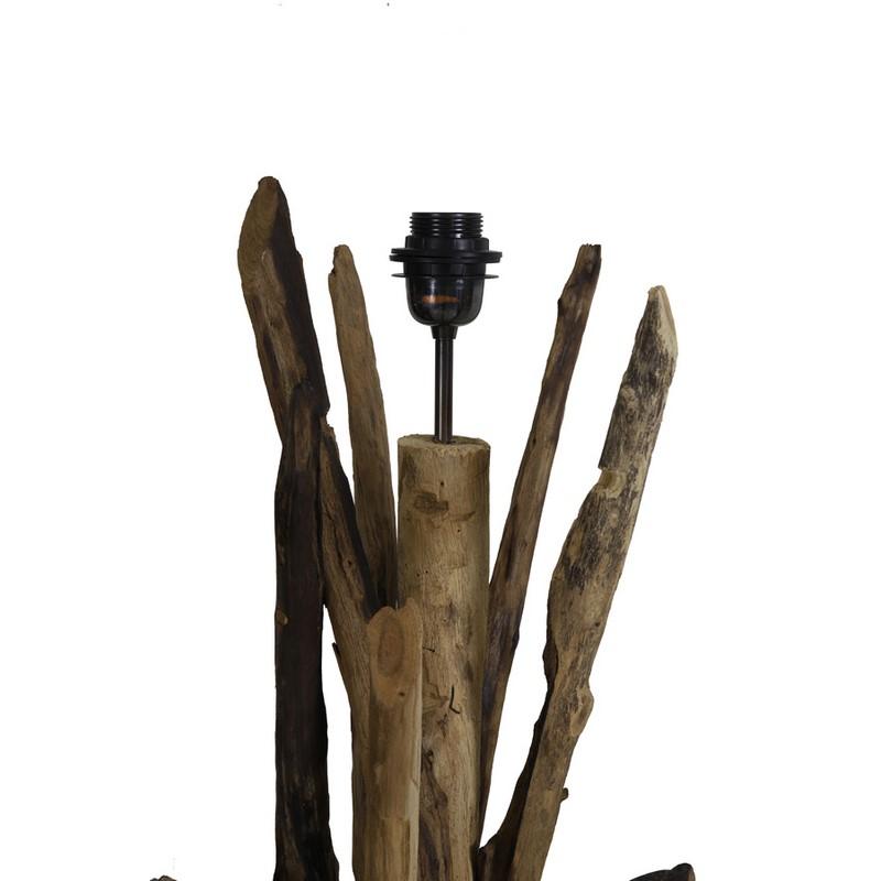 Lampadaire bois foncé Vidin