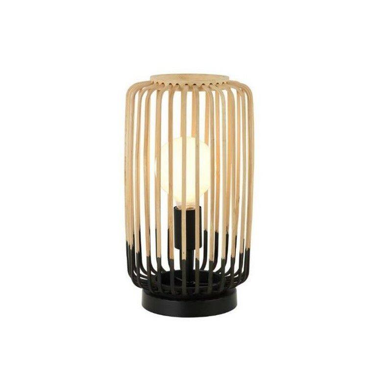 Lampe à poser bambou noire