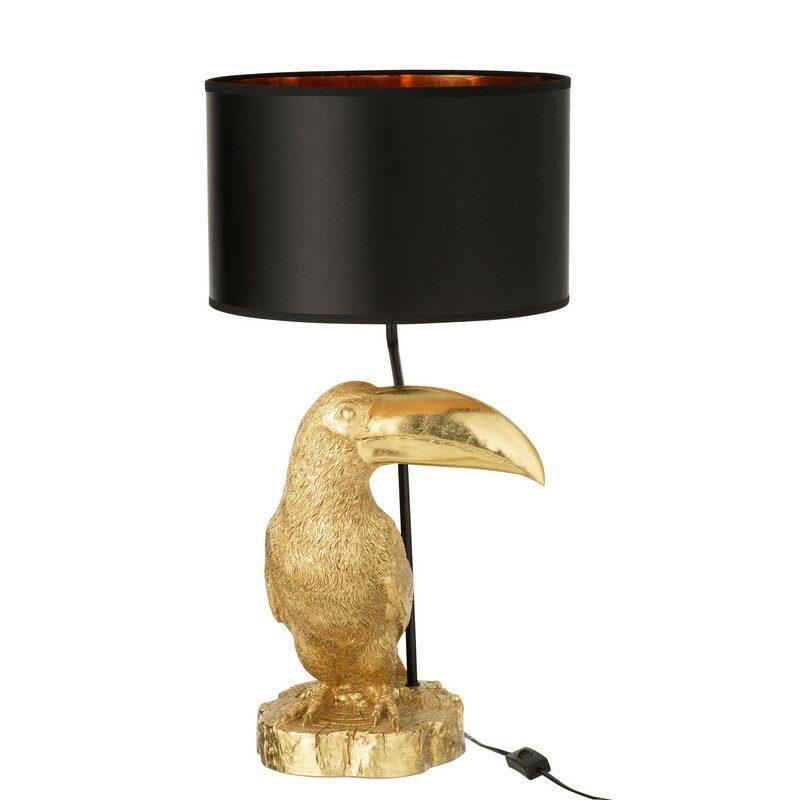 Lampe Toucan dorée et noire