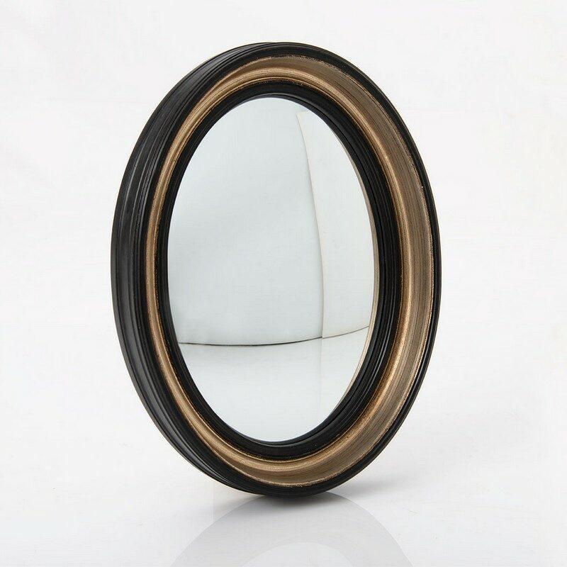 Miroir noir ovale Sorcière 40 cm