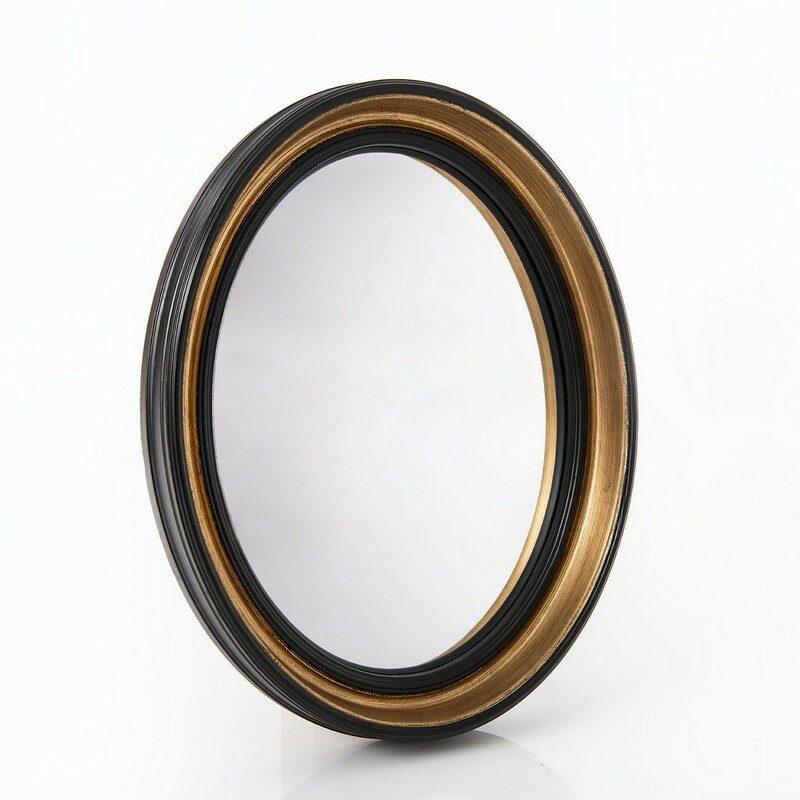 Miroir noir ovale Sorcière 50 cm