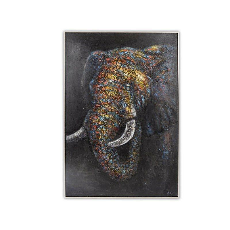 Tableau mural relief éléphant