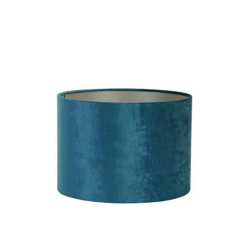 Abat-jour cylindre Gemstone bleu pétrole