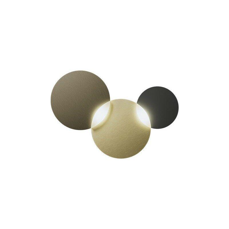 Applique Circ laiton/bronze 2 lumières