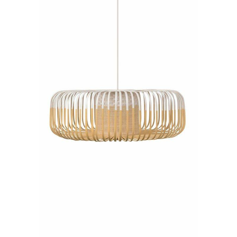 Suspension bamboo light blanche XL 60 cm