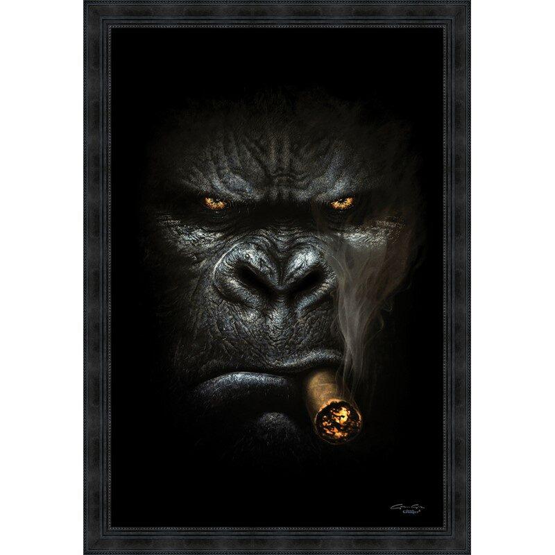 Tableau Gorille cigare