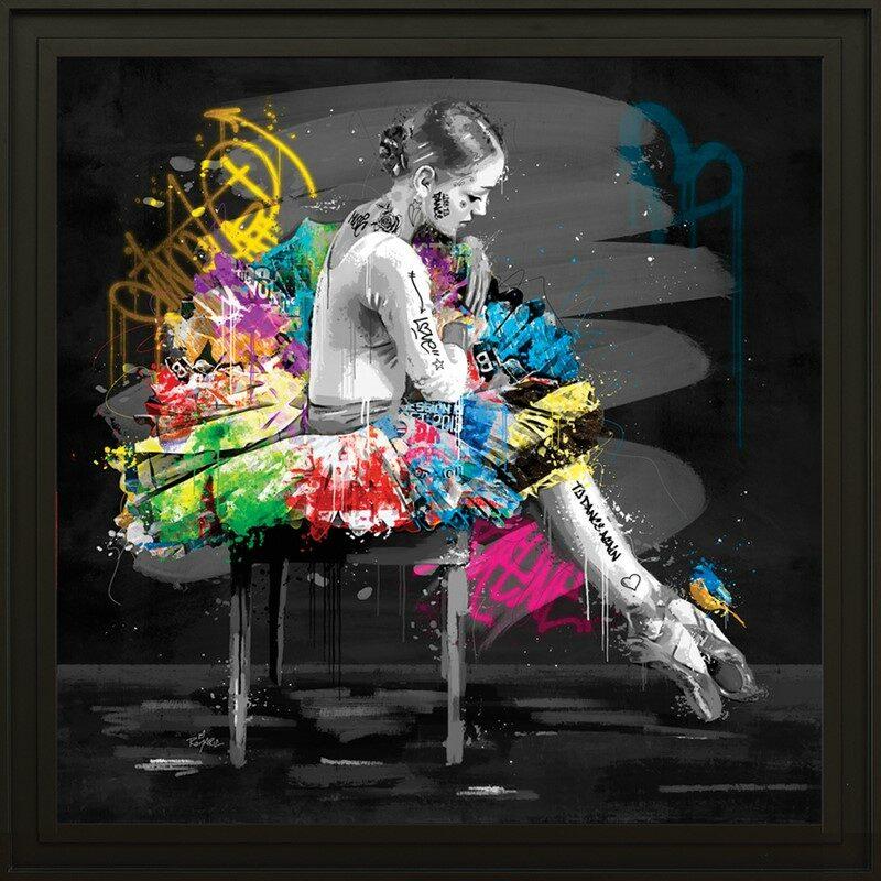 """Tableau """"la danseuse et l'oiseau"""""""