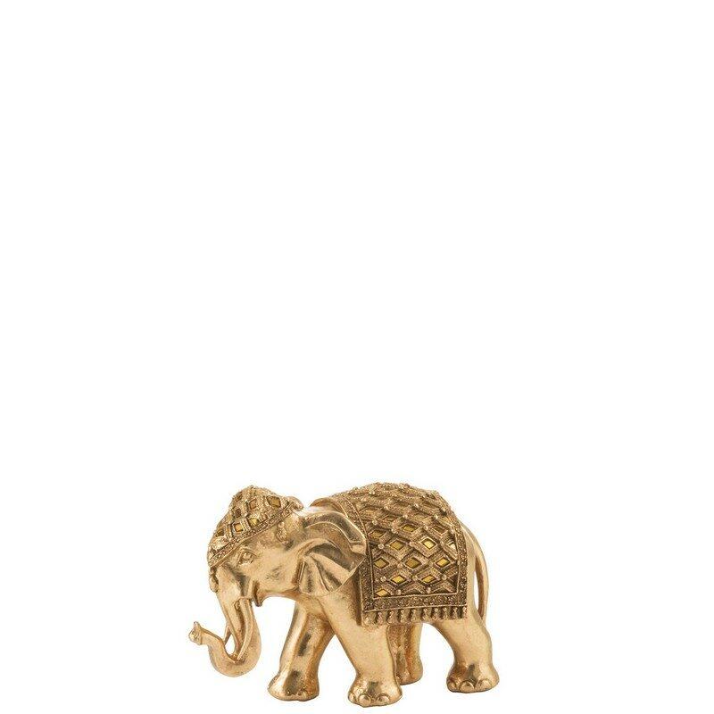 Éléphant miroir or 21 cm