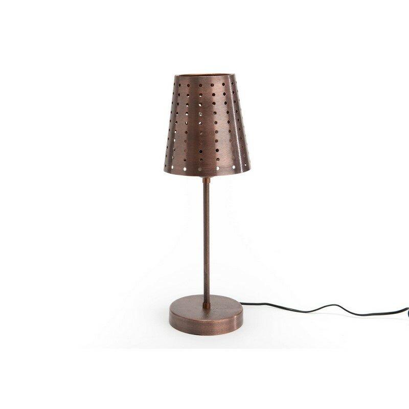 Lampe à poser Paolo cuivre antique
