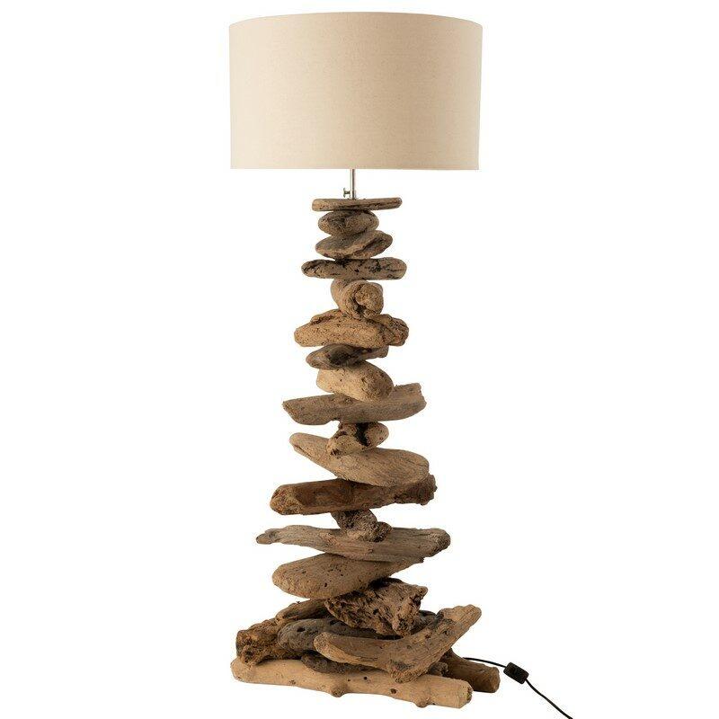 Lampe bois flotté 90 cm