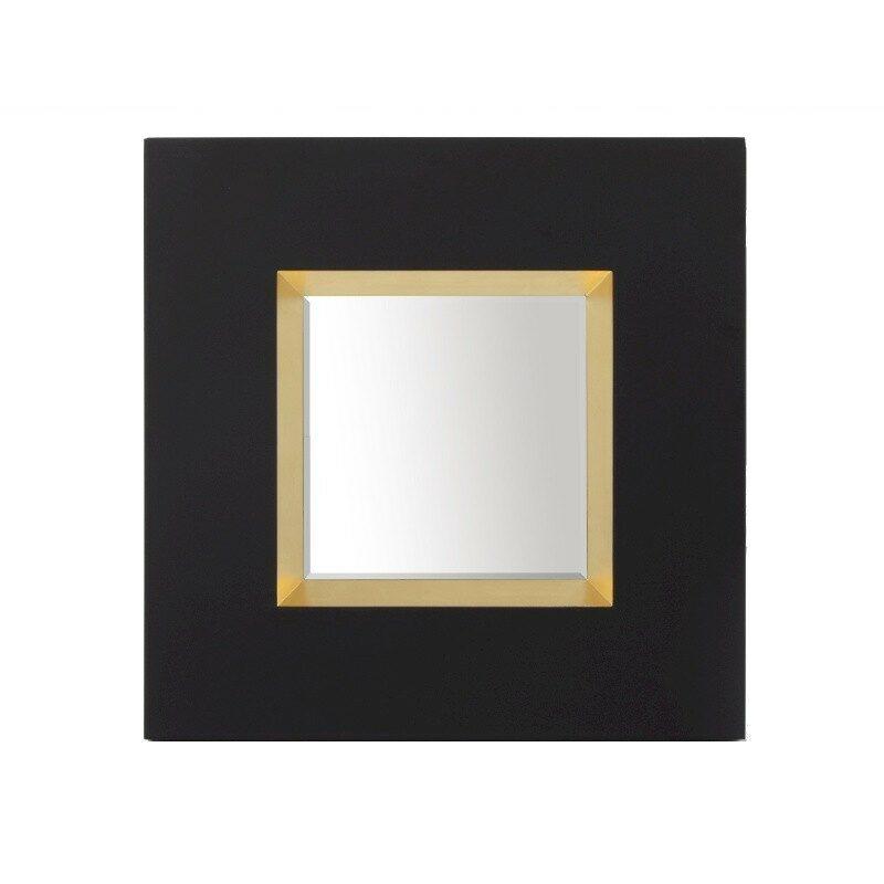 Miroir carré noir Optik
