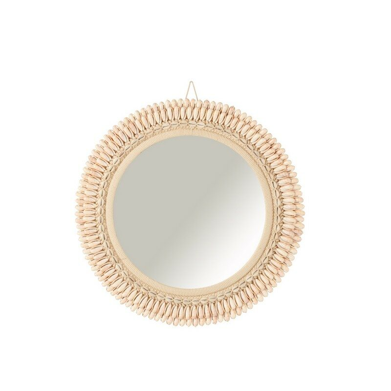 Miroir coquillage Mona 50 cm