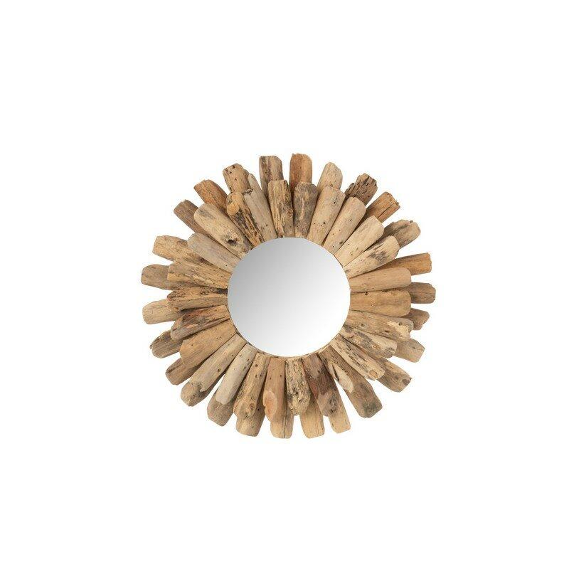 Miroir rond bois flotté 40 cm