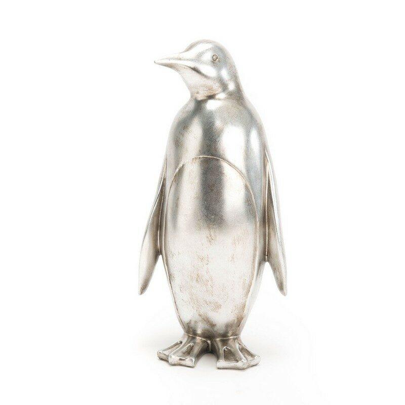 Pingouin argenté déco