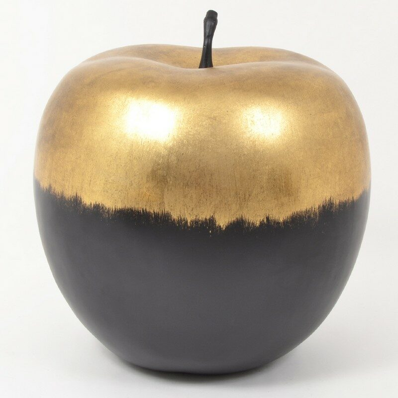 Pomme Goldy noire et or 53 cm