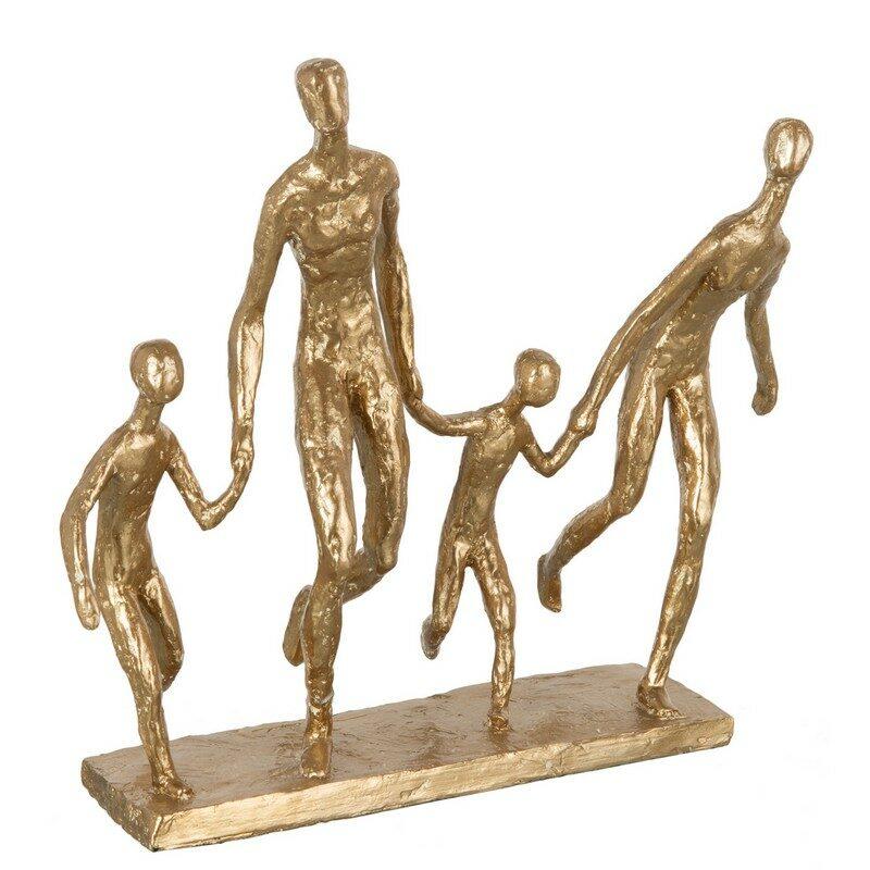 """Statue """"famille qui court"""""""