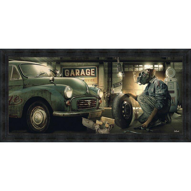 Tableau garage vintage