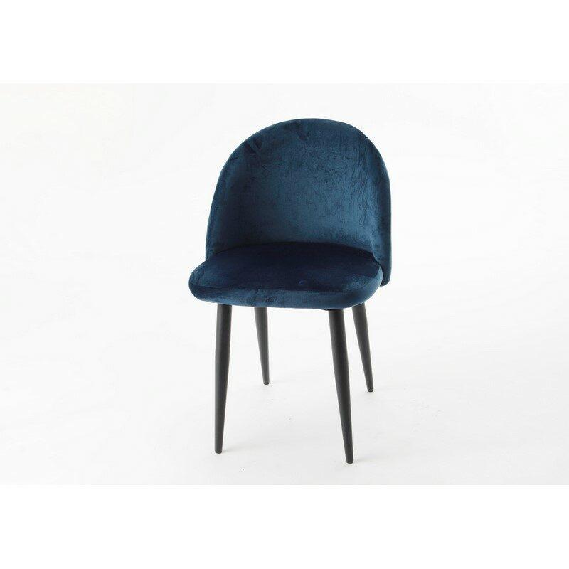 Chaise velours bleu nuit Hantz
