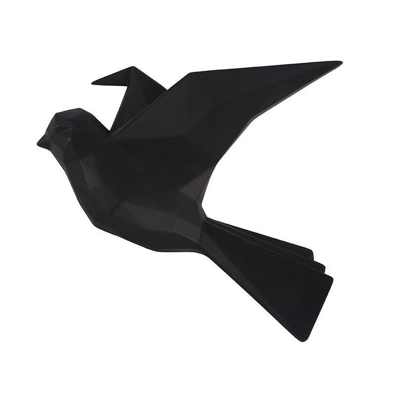 deco murale origami oiseau noir