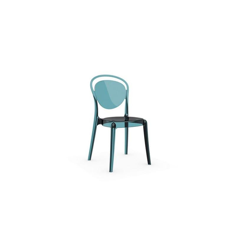 Chaise en polycarbonate Parisienne vert d'eau transparent - 47496 - CS-1263_P296[07 (3)