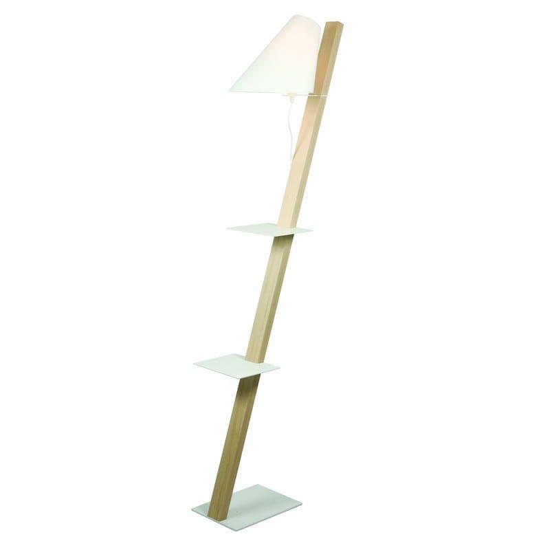 Lampadaire avec étagères en bois Zeck - 41594 - LR-L130098