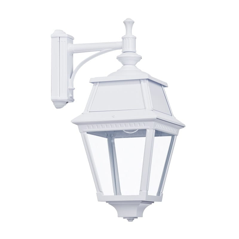Applique extérieure descendante classique Avenue 2 blanche verre clair – Roger Pradier® - 102010001