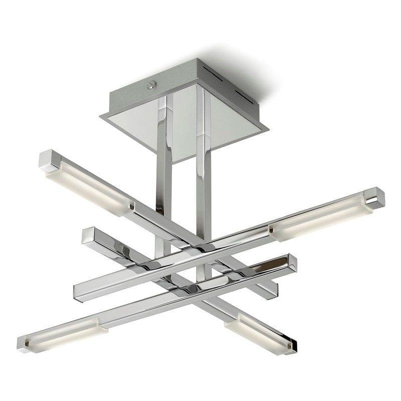 Plafonnier NAIRE chrome 4L LED - FALADESA