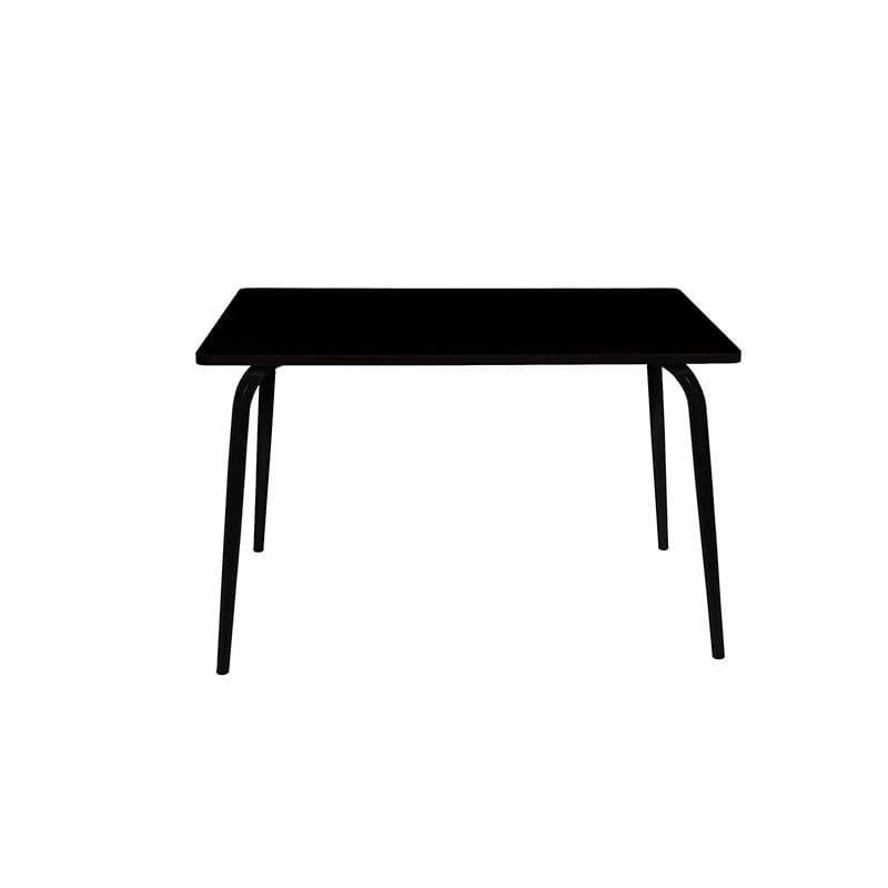 Table VERA noire pied noir 120 x 70 cm - LES PETITES GAMBETTES