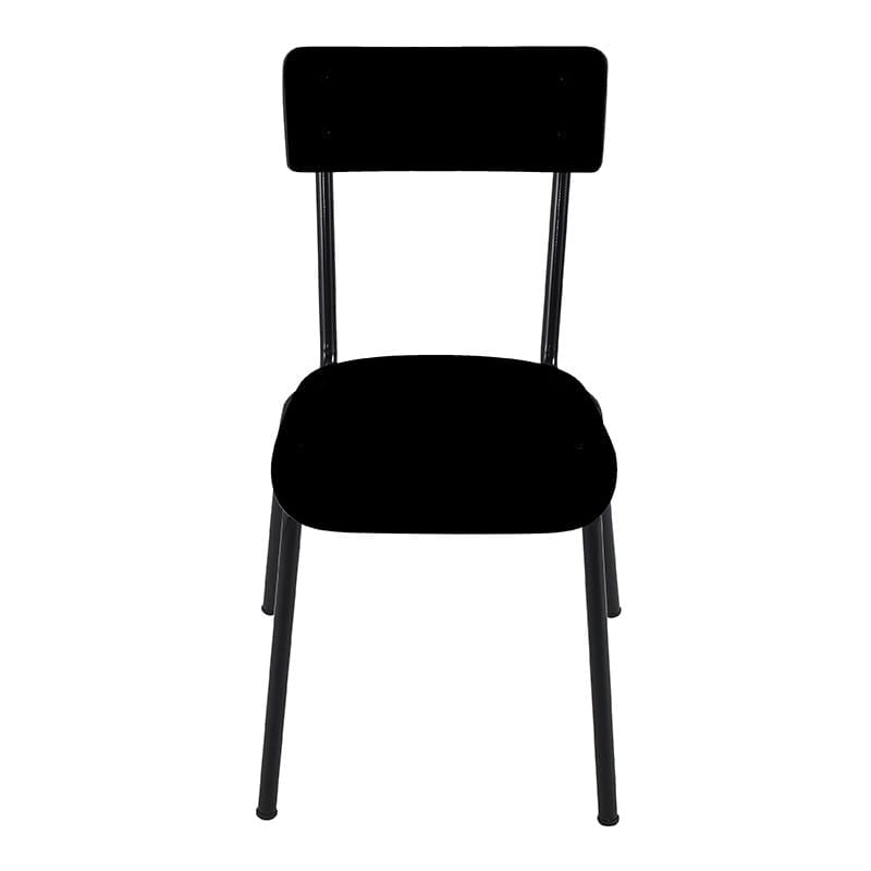 Chaise SUZIE noire pied noir -face- LES PETITES GAMBETTES