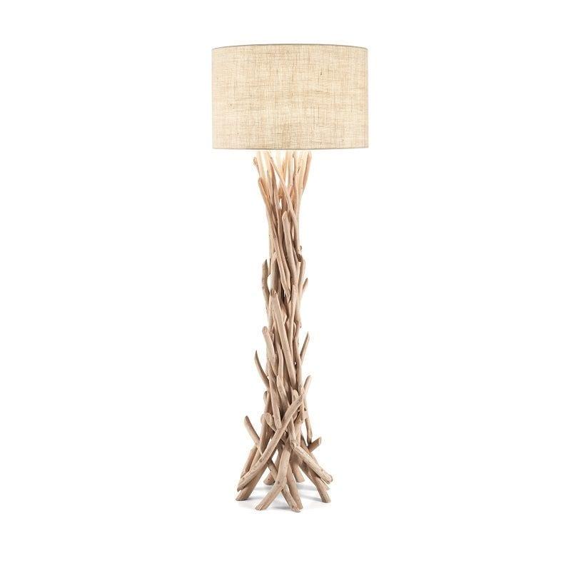 Lampadaire DRIFTWOOD bois naturel - IDÉAL LUX