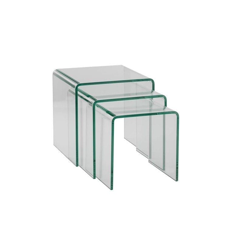 Table gigogne SOURCE en verre transparent