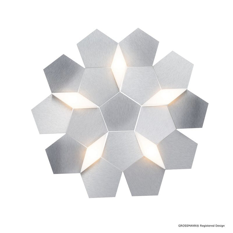 Applique KARAT aluminium LEDS 5 lumières - GROSSMANN 75-785-072