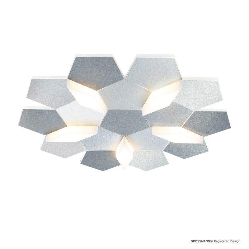 Plafonnier KARAT aluminium LEDS 5 lumières - GROSSMANN 75-785-072
