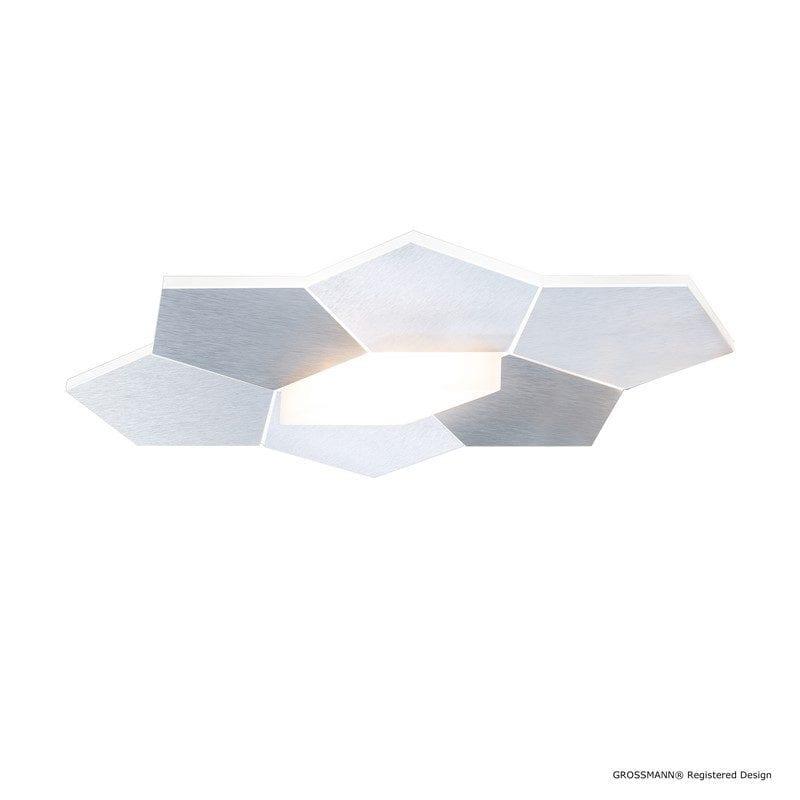 Plafonnier LINDE aluminium LEDS 1 lumière - GROSSMANN 51-787-072