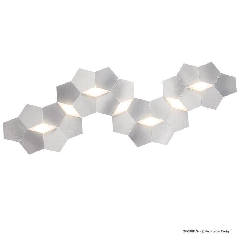 Applique/Plafonnier LINDE aluminium LEDS 7 lumières - GROSSMANN 77-787-072
