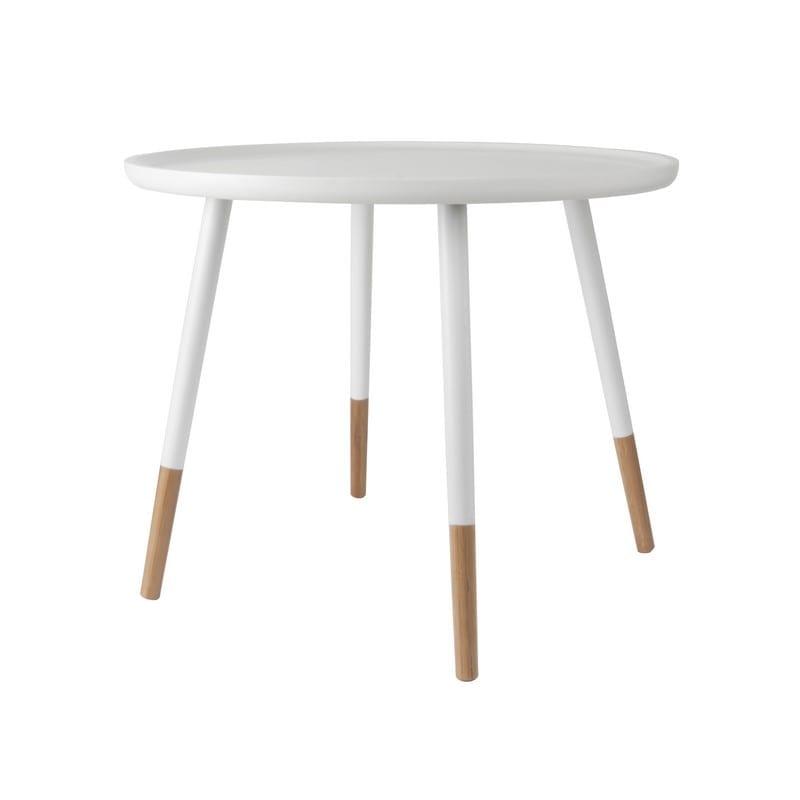 Table basse scandinave GRACEFUL blanche et bois - PRESENT TIME