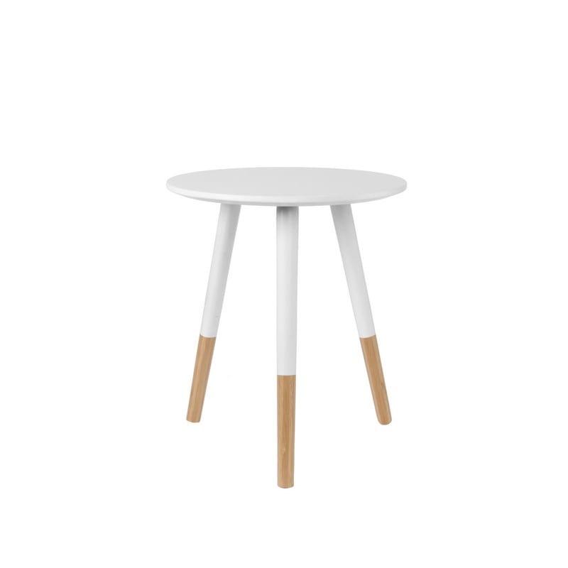 Petit modèle table basse GRACEFUL scandinave blanche et bois - PRESENT TIME
