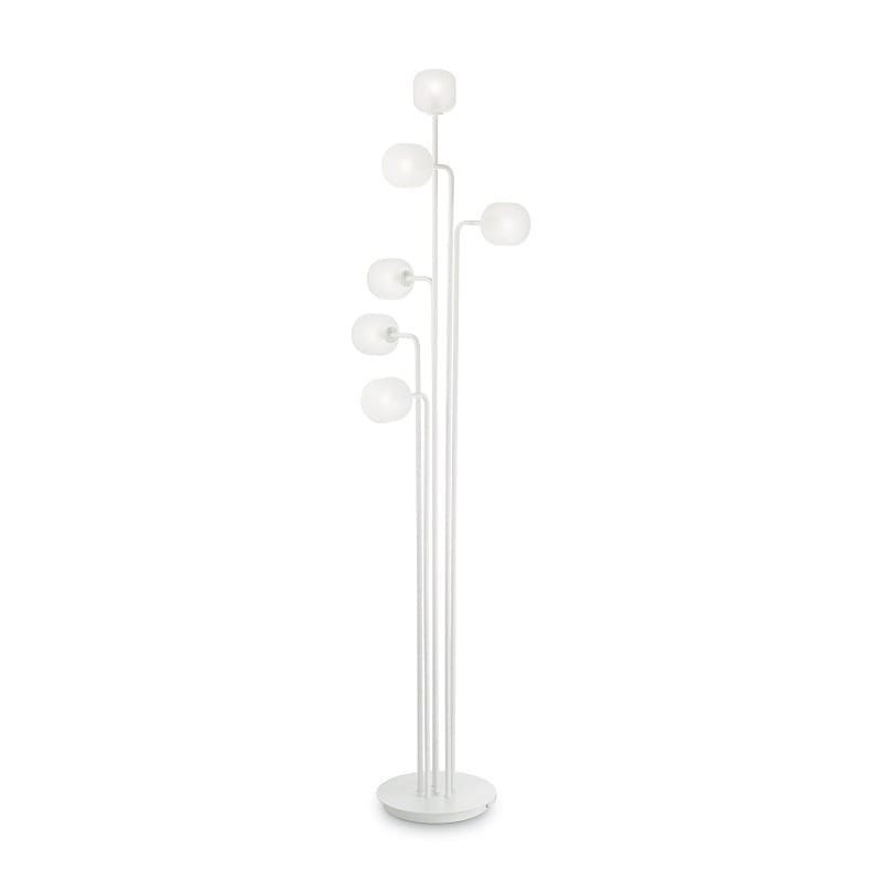 Lampadaire-blanc-6-lumières-Mallow