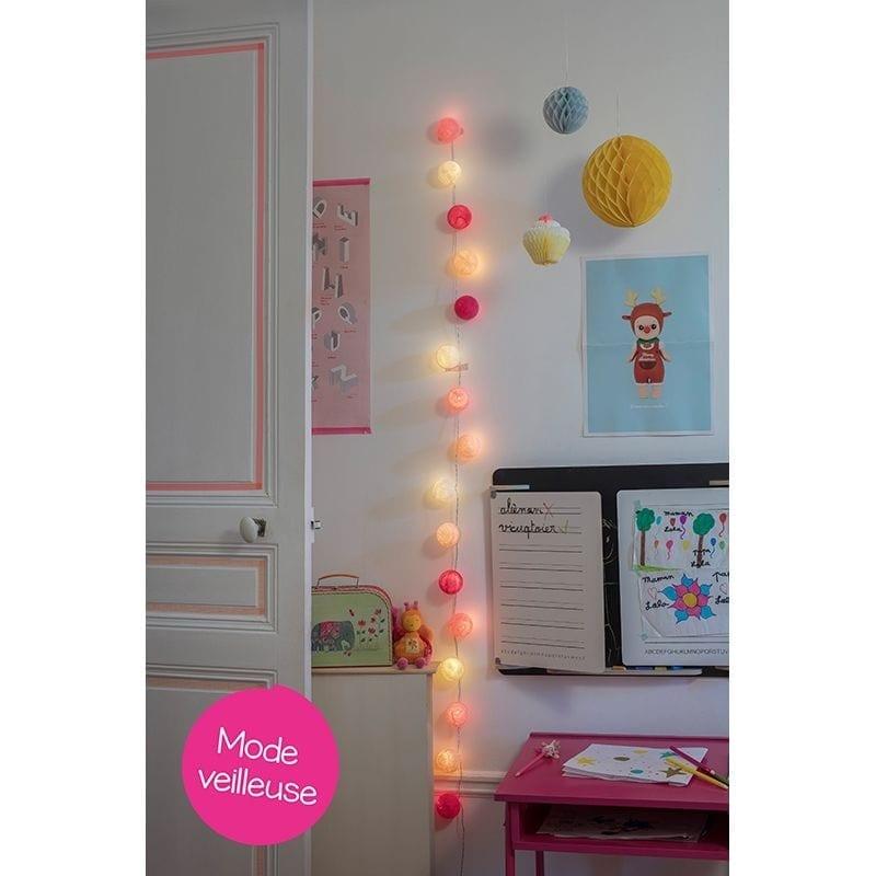 Guirlande bébé lumineuse led Louise mode veilleuse - 45582 - 01713