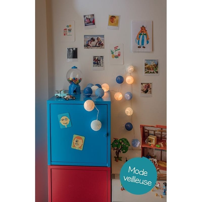 Guirlande bébé lumineuse led Lucien mode veilleuse - 45583 - 01714