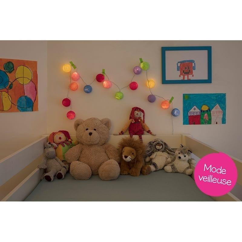 Guirlande bébé lumineuse led Oscar mode veilleuse - 45584 - 01716